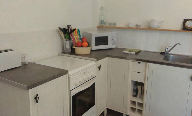 Gite Kitchen area - cooker, microwave etc